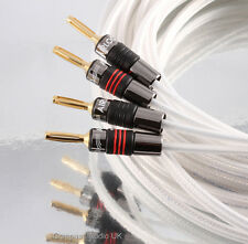 2 x 3m QED Silver Anniversary XT Speaker Cable AIRLOC Forte Plugs Terminated