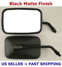 Pair Black Rectangular METAL Motorcycle Mirrors - Suzuki GS400 GS450 GS500 GS550