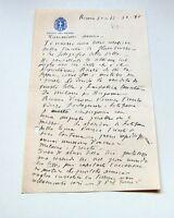 Autografo Lettera Francesco Rota Roma 1936