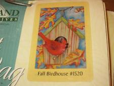 Toland Flag/New/Autumn/Birdhouse /Red Cardinal/Swirling Leaves/Large 28 x 40/Look