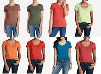 EDDIE BAUER Essential Crew,Scoop Neck Short Sleeve T-shirts Regular,Petite,Tall