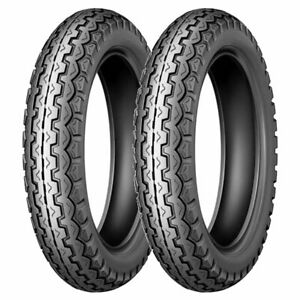 COPPIA GOMME DUNLOP 3.25-18 52S + 3.50/ -18 56S K82