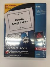 Avery White Shipping Labels 5165 Laser 8 12 X 11 100 Labels 100 Sheets