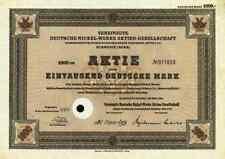 Vereinigte Deutsche Nickel Werke 1951 Schwerte Iserlohn Letmathe 1000 DM VDN LPW