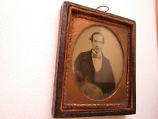 creepy ambrotype miniature photo victorian 1860