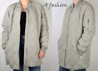 NEXT UK 8 TAGGED £60 LADIES GREY COAT QUILTED SHOWER RESISTANT