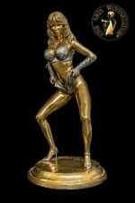 Bronze Sculpture Figure Dolly Buster Erotic Handmade Sexual Statue Art Woman
