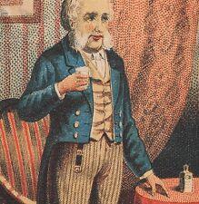 Tarrants Seltzer Aperient Grandfather bottle Victorian Advertising Trade Card