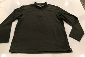 Arcteryx Captive Long Sleeve Polo Shirt Men's Size 2XL Dark Olive Green - EUC