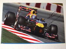 Mark Webber signed Red Bull 12x8 Photo - Formula 1 Legend