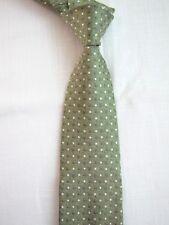 Geoffrey Beene Luxury Silk Mens Tie Green Polka Dot Pattern Quality Silk