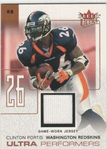 Clinton Portis Denver Broncos Redskins 2004 Fleer Ultra Game-Used Jersey Relic ^