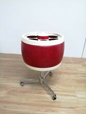 Rare Mid-Century Modern Rare Drinks Trolley for Bottles and Ice Red & White