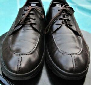 Salvatore Ferragamo Man's Dark Brown leather  Lug Sole shoes  size 11.5 D
