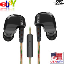 KZ HD9 HiFi Earphone Ear Hook Stereo Earbuds Headphones Black with MIC f/ Phone