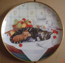Lovely Franklin Mint Collectors Plate CAT NAP