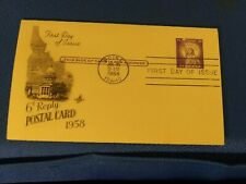Scott #UY17 3+3 Cent Reply Statue of Liberty Postcard First Day Issue