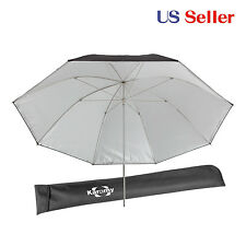 Studio 46' Umbrella Reflective & Translucent removable Silver Fabric metal frame