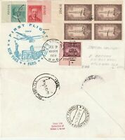 US 1959 TWA FAM 27 FIRST FLIGHT FLOWN COVER NEW YORK NY TO ROME ITALY (a)
