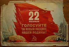 1953 Rare Soviet Russian Original POSTER Election Day USSR Propaganda Stalin era