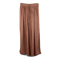 Sportsgirl Womens Maxi Skirt Size 6 Nude Pink Elastic Waist Slitted