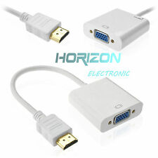 White 1080P HDMI Male to VGA Female Converter Adapter Cable Cord for PC DVD HDTV