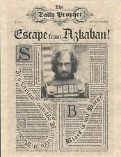 Harry Potter Daily Prophet Escape From Azkaban Sirius Black Flyer/Poster Replica