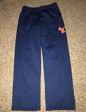 Boys Under Armour Coldgear Storm Blue Orange Big Logo Pants Youth Large Ylg