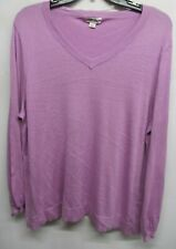 Ava & Viv women Plus size 2X Purple sweater long sleeve NWOT Lot#56