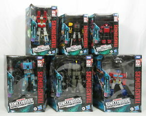 Lot 6 Transformers War For Cybertron Earthrise Figures Optimus Prime Starscream