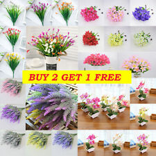 Plastic Artificial Flowers Fake Plants Grass Garden Lily Calla Daffodil Outdoor