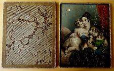 ANTIQUE JIGSAW PUZZLE IN ORIGINAL BOX 1800's MOTHER CHILDREN DOG Girls