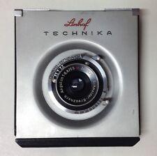 Linhof Technika III lens board +  Schneider Angulon 1:6,8/65mm lens, original.