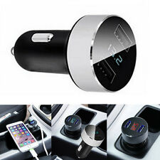 DC 5V 3.1A Dual USB Car Quick Charger Adapter Voltage Tester For iPhone Samsung