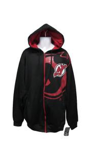 New-Minor-Flaw New Jersey Devils Mens Sizes XLT-3XL-4XL-5XL-6XL Full Zip Hoodie