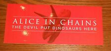 Alice in Chains The Devil Put Dinosaurs Here Bumper Sticker Decal Promo 7x3
