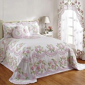 Better Trends-Bloomfield Collection Twin Bedspread in Rose