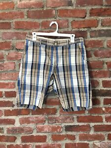 Bills Khaki 30 Plaid Shorts