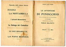 SAINT PIERRE LE AVVENTURE DI PINOCCHIO COMMEDIA  MUSICA P MALFETTI  1914