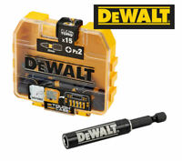 DEWALT Extreme IMPACT Torsion Bits PZ2 (Pozi2) x 15 & Magnetic Holder DT70618T
