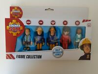 Fireman Sam 5 pack  figures Norman, Penny, Sam, Tom & Nurse Flood play set *NEW*