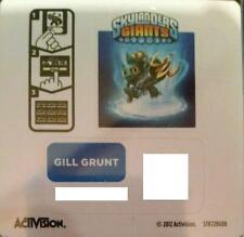 Gill Grunt Skylanders Giants Sticker/Code Only!