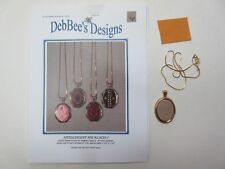 DebBee's Designs  Needlepoint Necklaces I pattern, chain & bezel - counted