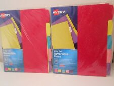 2 Avery 24928 5 Big Tab Reversible Dividers Glitter Pattern School Supplies