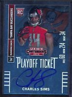 CHARLES SIMS - 2014 Contenders Playoff Ticket SP Rookie Auto - Buccaneers /99