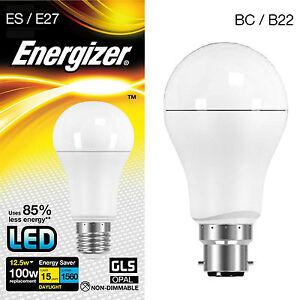 100w LED Energy Saving GLS Light Bulb Cool White Daylight 6500K BC B22 or ES E27