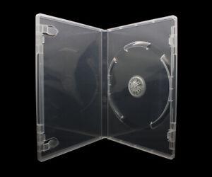 50 x 1 Fach DVD Hüllen für 1 CD / DVD / Blu-Ray Hülle | 14mm Transparent / Klar