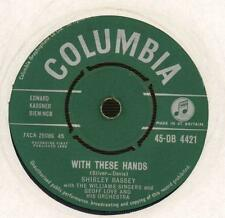 "Shirley Bassey(7"" Vinyl)With These Hands / The Party's Over-Columbia-DB-VG/Ex"