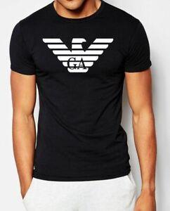 EMPORIO ARMANI Schwarz Herren T-shirt Straff sitzend E.A-Größe: M,L,XL Neu
