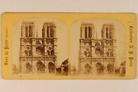 Notre-Dame De Paris Francia Foto A.P.Stereo c1870 Vintage Albumina